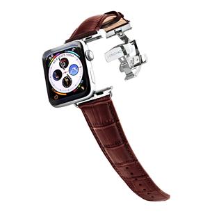 Apple Watch strap Longvadon (42 mm / 44 mm) LVMAHOGANY42/44SILV