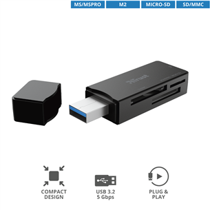 Кард-ридер Nanga USB 3.1, Trust