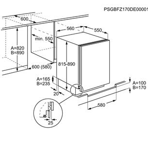 Built-in cooler Electrolux (82 cm)