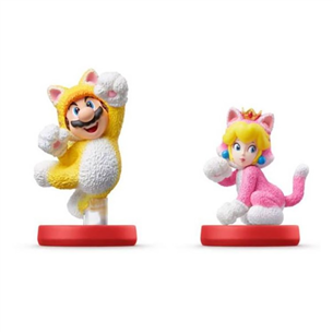 Amiibo Cat Mario and Peach
