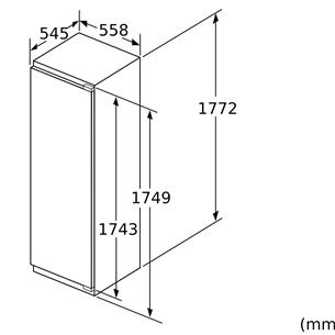 Integreeritav sügavkülmik Bosch (178 cm)