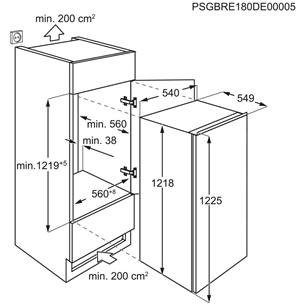 Integreeritav külmik Electrolux (122 cm)