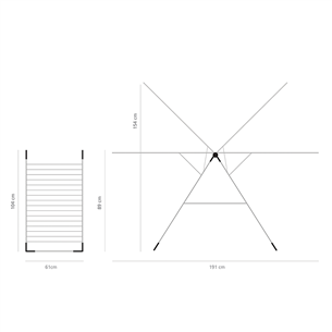 Сушилка для белья T-model, Brabantia / 20m
