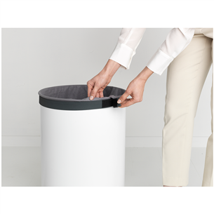 Корзина для белья с пластиковой крышкой Brabantia (60 л)