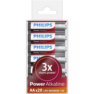 Battery Philips LR6P AA Power Alkaline (20 pcs)