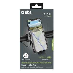 Phone holder for electric scooters and bikes SBS E-Go Pro