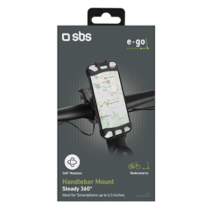 Phone holder for electric scooters and bikes SBS E-Go 360 degrees