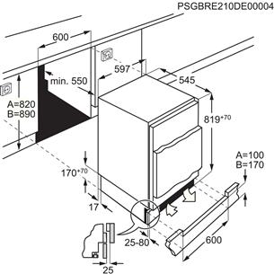 Интегрируемый холодильник Electrolux (82 см)
