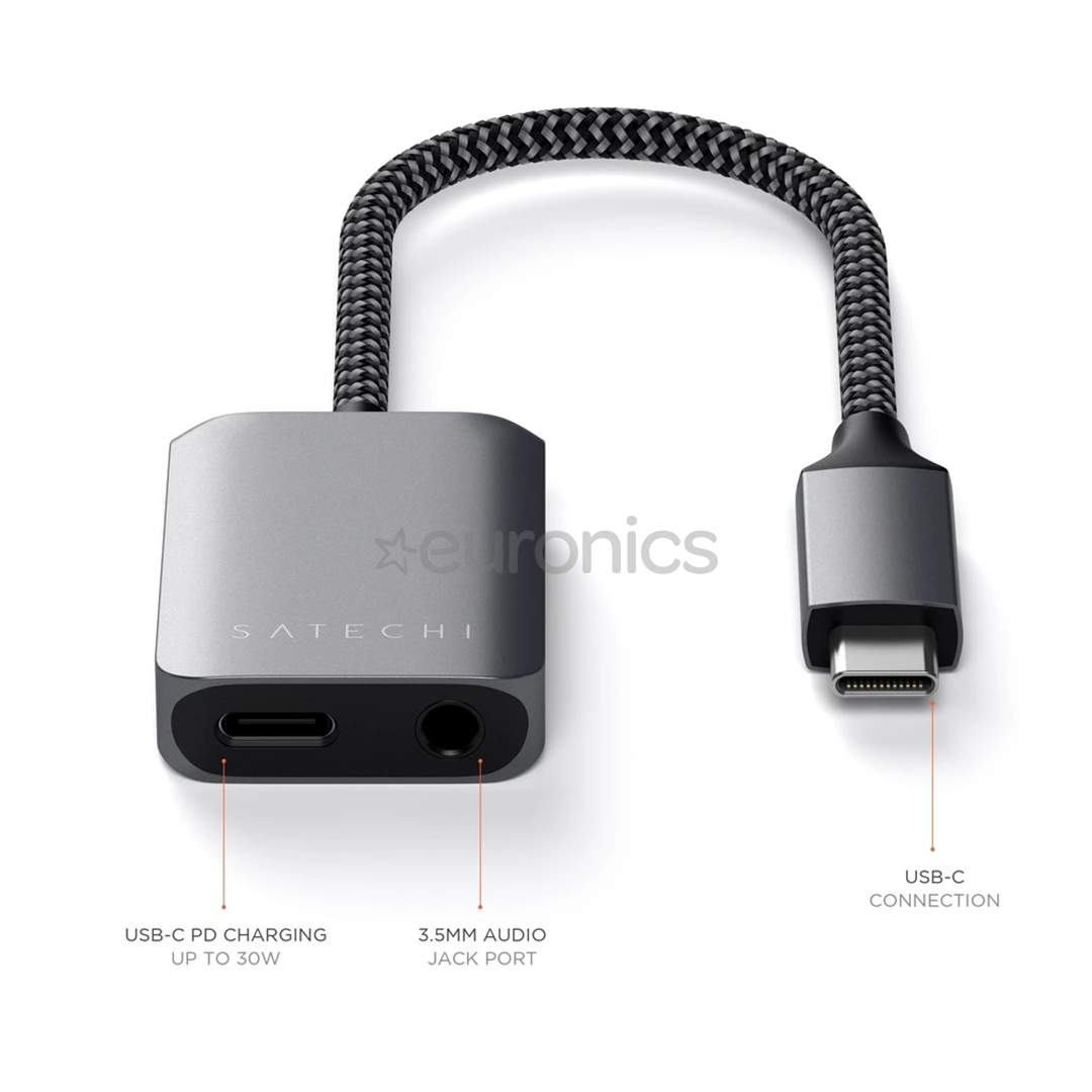 USB-C jagaja Satechi 3.5mm / USB-C PD