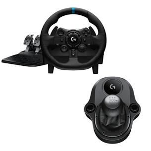 Руль Logitech G923 для ПК / PS4 / PS5 + рычаг переключения передач Driving Force G923PSSHIFTER