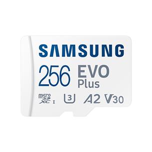 Карта памяти Micro SDXC + SD-адаптер Samsung EVO Plus 2021 (256 ГБ)
