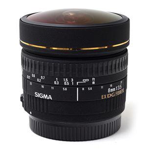 AF 8mm F3.5 DG EX Fisheye lens for Nikon, Sigma