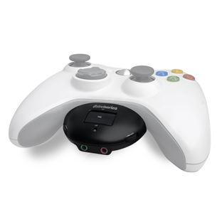 Kõrvaklappide ühendus Xbox360 mängukonsoolile Spectrum AudioMixer, Steelseries