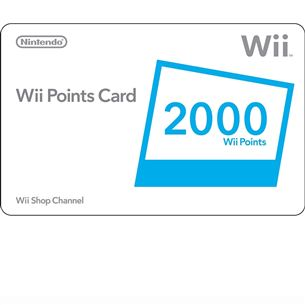 Nintendo WII Points Card 2000