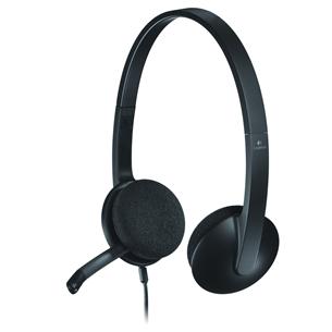 Kõrvaklapid mikrofoniga Logitech H340