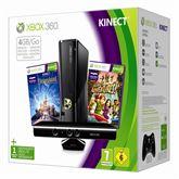 Mängukonsool Xbox 360 4 GB + Kinect + Kaks mängu