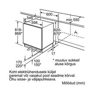 Built-in freezer Bosch (98 L)