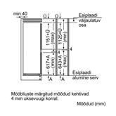 Инт. холодильник, Bosch / высота для встраивания: 178 см