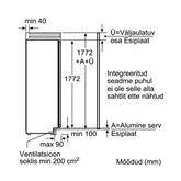 Integreeritav sügavkülmik Bosch (213 L)