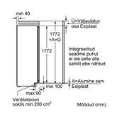 Integreeritav jahekapp Bosch (178 cm)