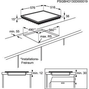 Integreeritav klaaskeraamiline pliidiplaat, Electrolux