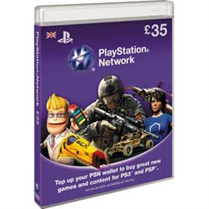 Playstation Network Live Card, Sony / £35