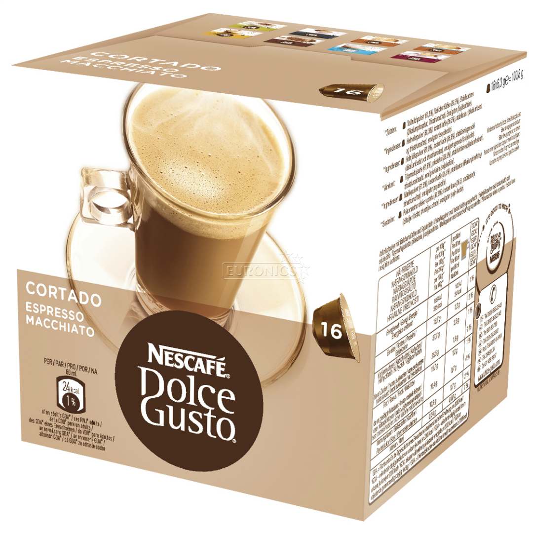 coffee capsules nescafe dolce gusto cortado nestle 7613032827014. Black Bedroom Furniture Sets. Home Design Ideas