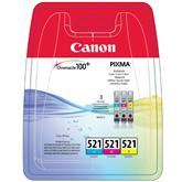 Комплект картриджей CLI-521 C/M/Y, Canon