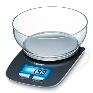 Digital kitchen scale with bowl KS25, Beurer 704.15