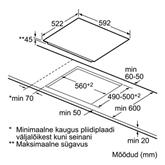 Integreeritav keraamiline pliidiplaat Bosch