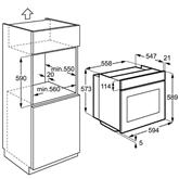 Integreeritav ahi, Electrolux / ahju maht: 74 L