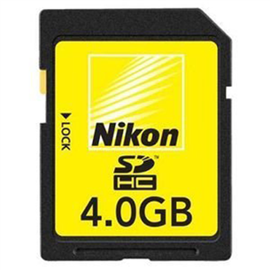 SD memory card, Nikon / 4 GB