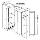 Integreeritav külmik Electrolux (144 cm)