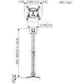Projektori laekinnitus Vogel´s PPC 1555 (55-85 cm)