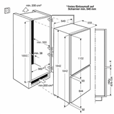 Integreeritav külmik Electrolux (185 cm)