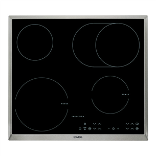 Built-in hob with 2 ceramic + 2 induction heat elements, AEG HK634150XB