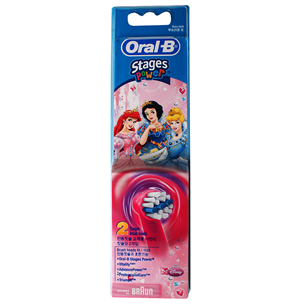 Spare brushes for children's electric toothbrush, Braun