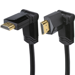 Позолоченный вращающийся кабель HDMI (1.4), Hama / 1,5м