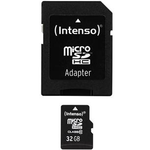 Карта памяти Micro SDHC (32 ГБ) с адаптером, Intenso