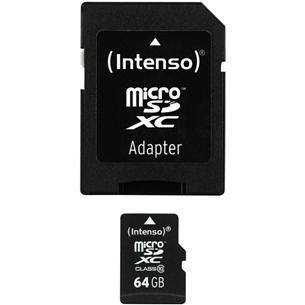 Micro SDHC memory card + adapter Intenso (64 GB)