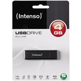 USB-mälupulk AluLine (4 GB), Intenso