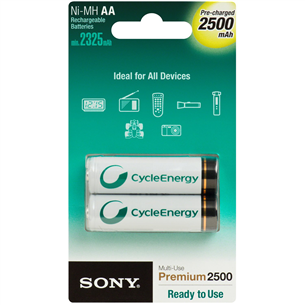 2 x AA akupatareid, Sony