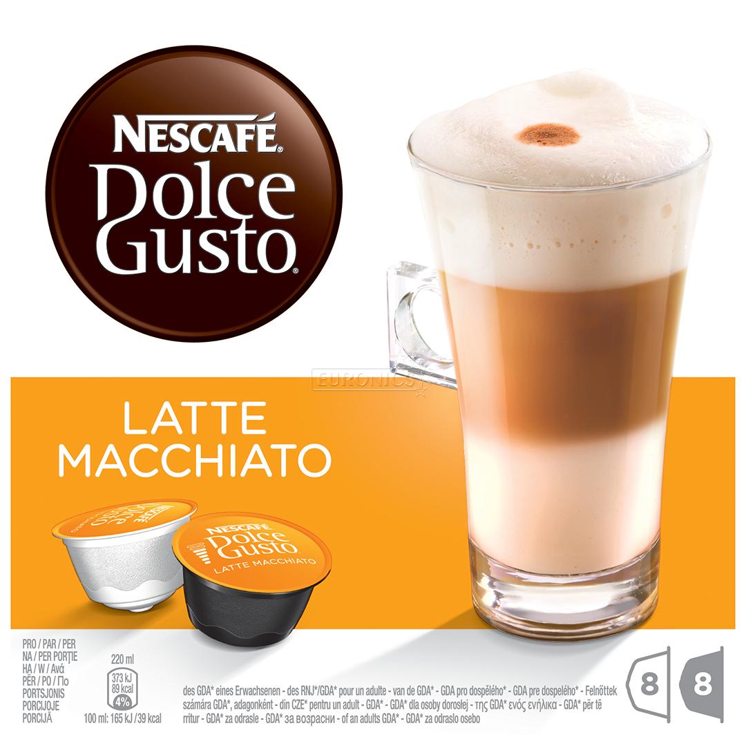 coffee capsules nescafe dolce gusto latte macchiato. Black Bedroom Furniture Sets. Home Design Ideas