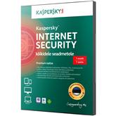 Kaspersky Internet Security 3. arvutile (1 a)
