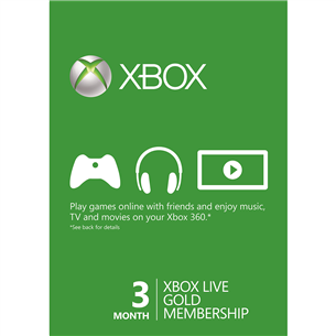 Xbox Live 3 Month Gold [digital] subscription