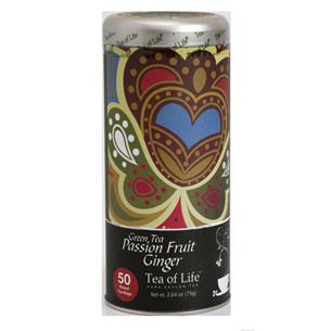 Teepadjad Green Tea Passion Fruit Ginger, Tea of Life