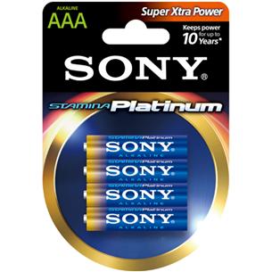 4 x AAA patareid Sony Stamina Platinum