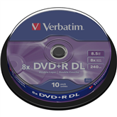 DVD+R Dual Layer toorikud (8,5 GB), Verbatim / 10 tk