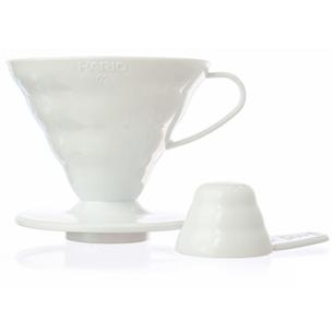 Plastik filtrikoonus V60, valge, Hario