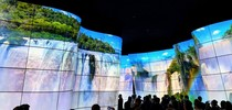 Посетителей выставки IFA2018 восхитила инсталляция LG OLED Canyon